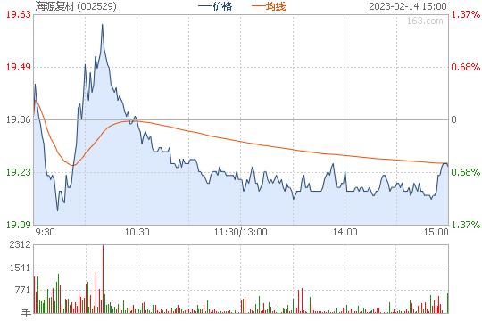 海源复材002529股票行情图
